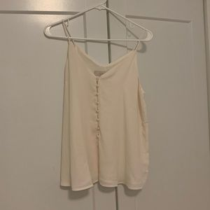 NWT LOFT Small Tank in Cream with Buttons